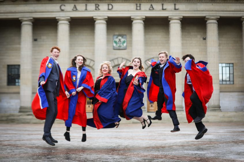 Dundee University graduates celebrated together last year.