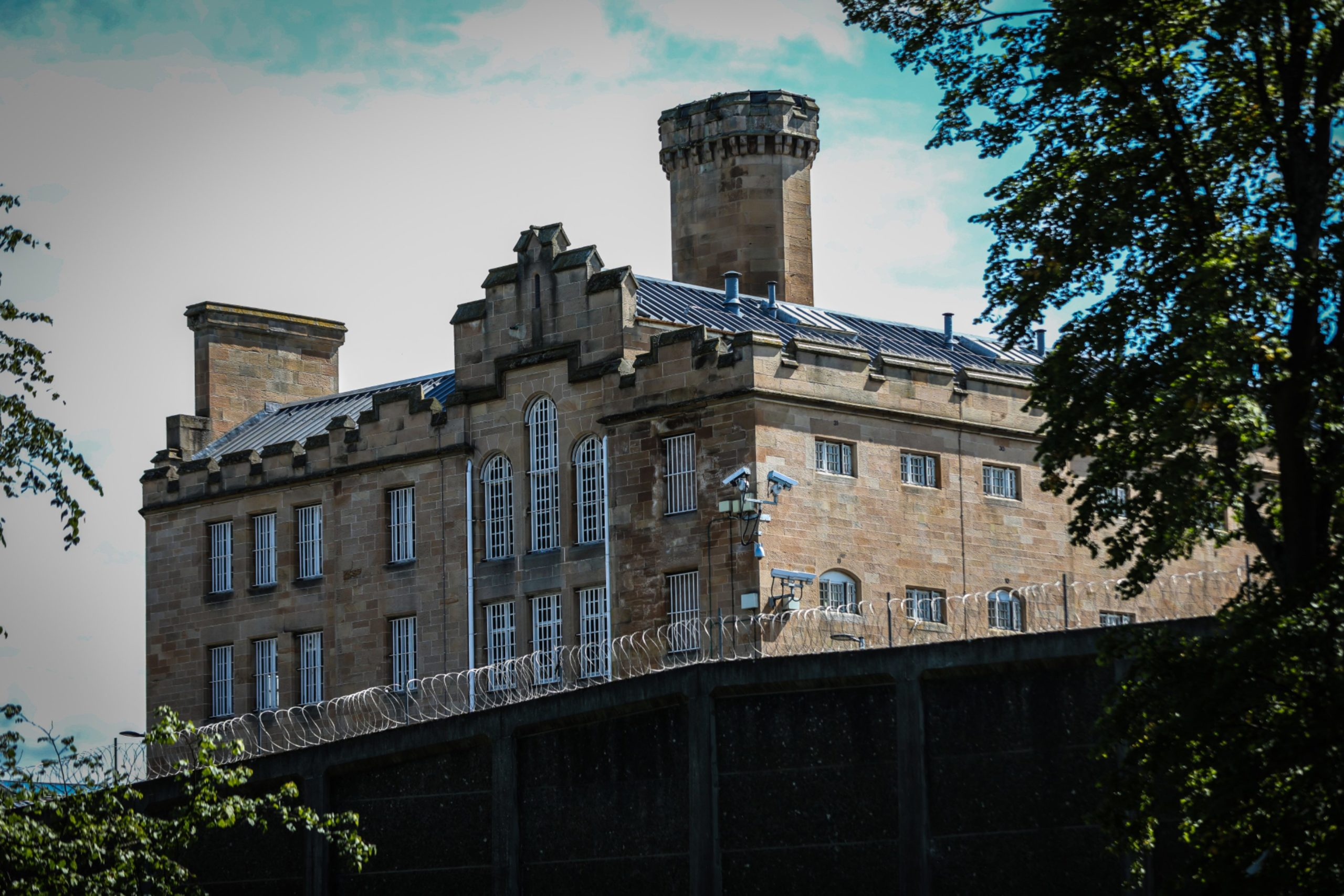 Courier News. Pic shows; general view of the exterior of Perth Prison (HMP Perth) for files. Friday, 3rd August, 2018.