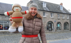 Mike Robinson, chief executive of RSGS in Perth with his knit double!