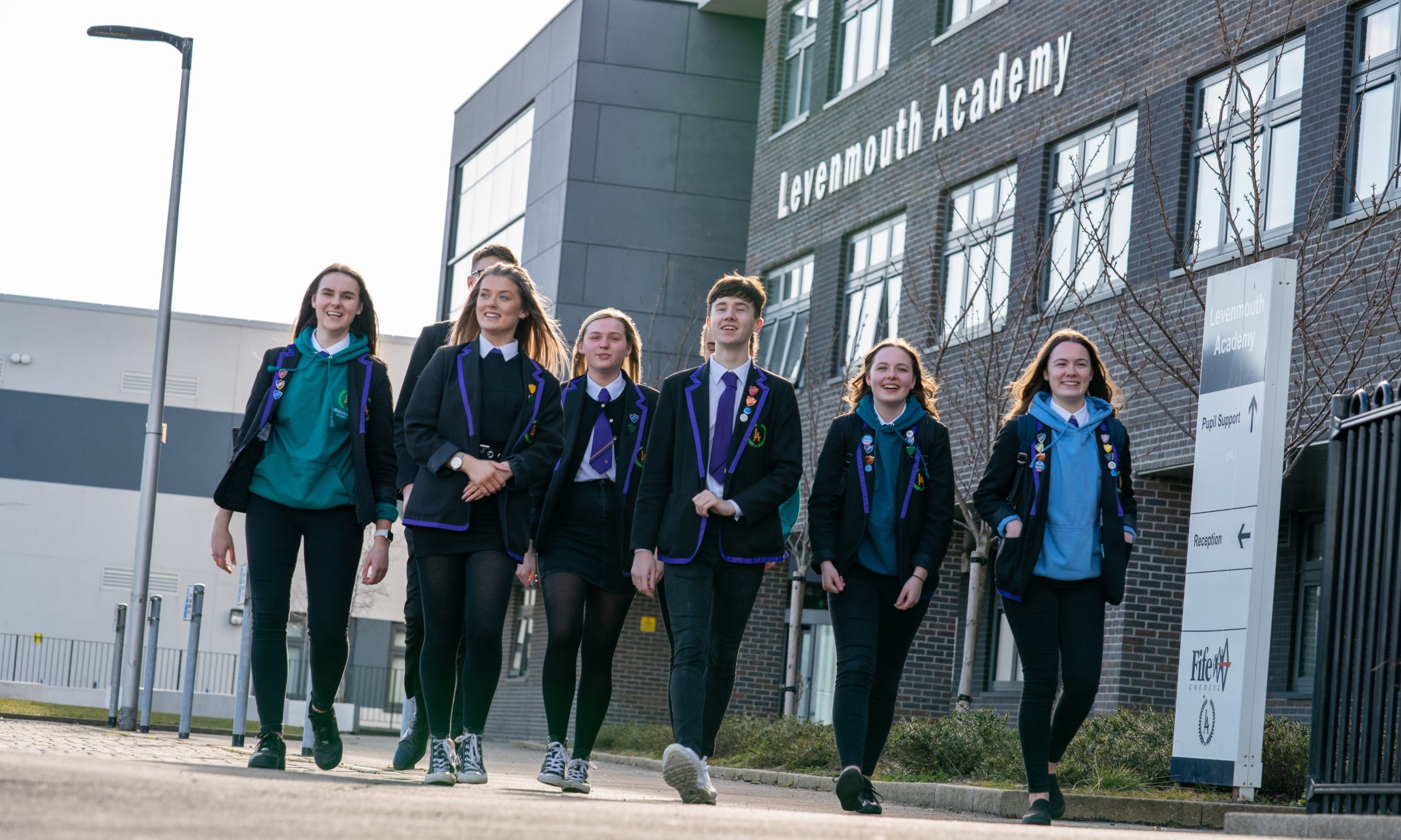 Pupils leave Levenmouth Academy, some for the last time and some not knowing when they will return.