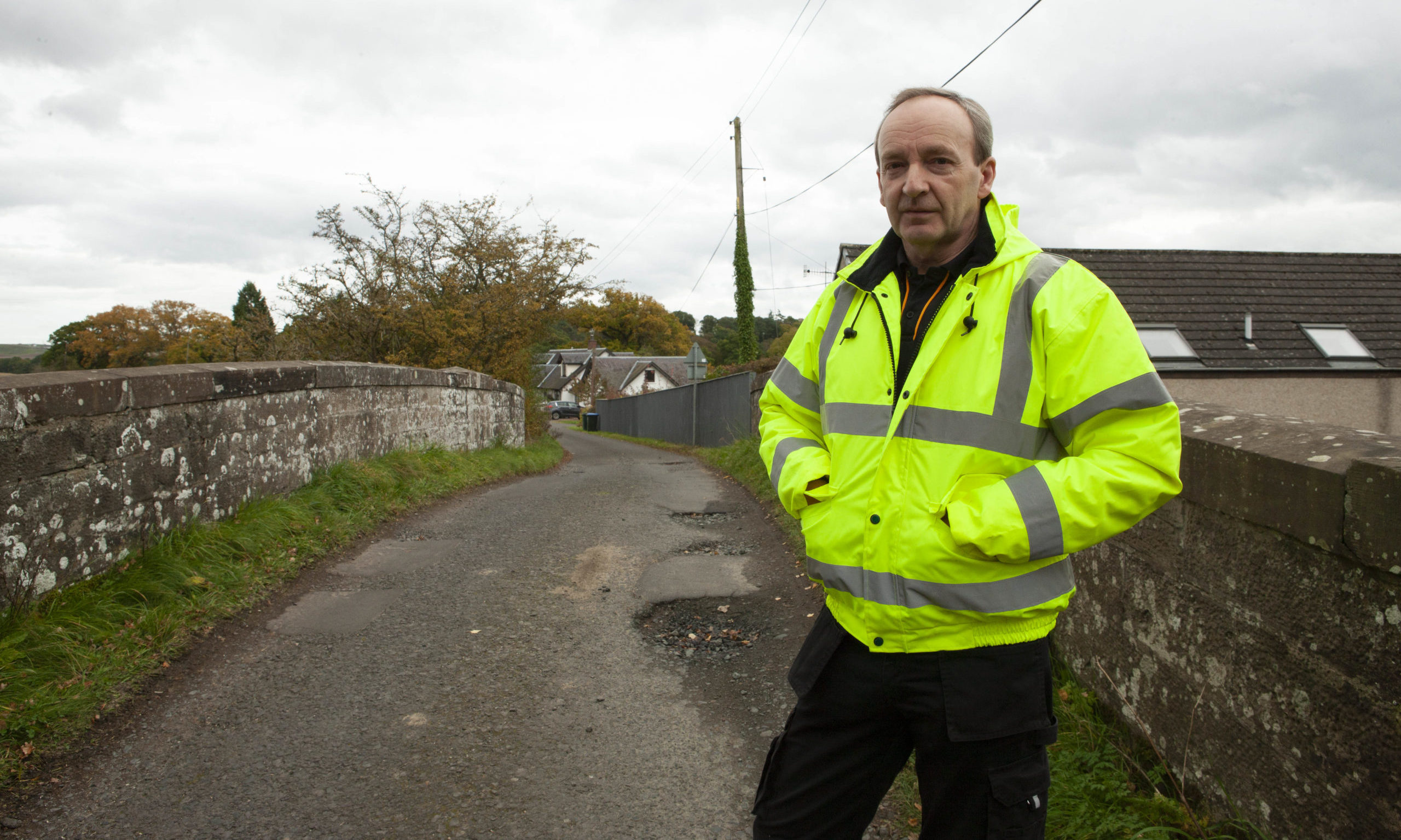Community Council Chairman George Black is fed up of motorists using the private road as a rat run.