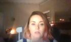 Kari doing her live meditation sessions through Facebook.