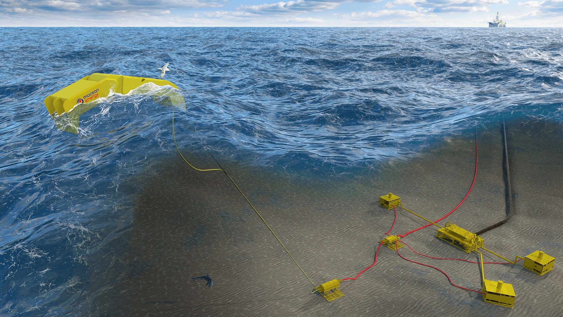 An image of how the new technology will look in the sea.