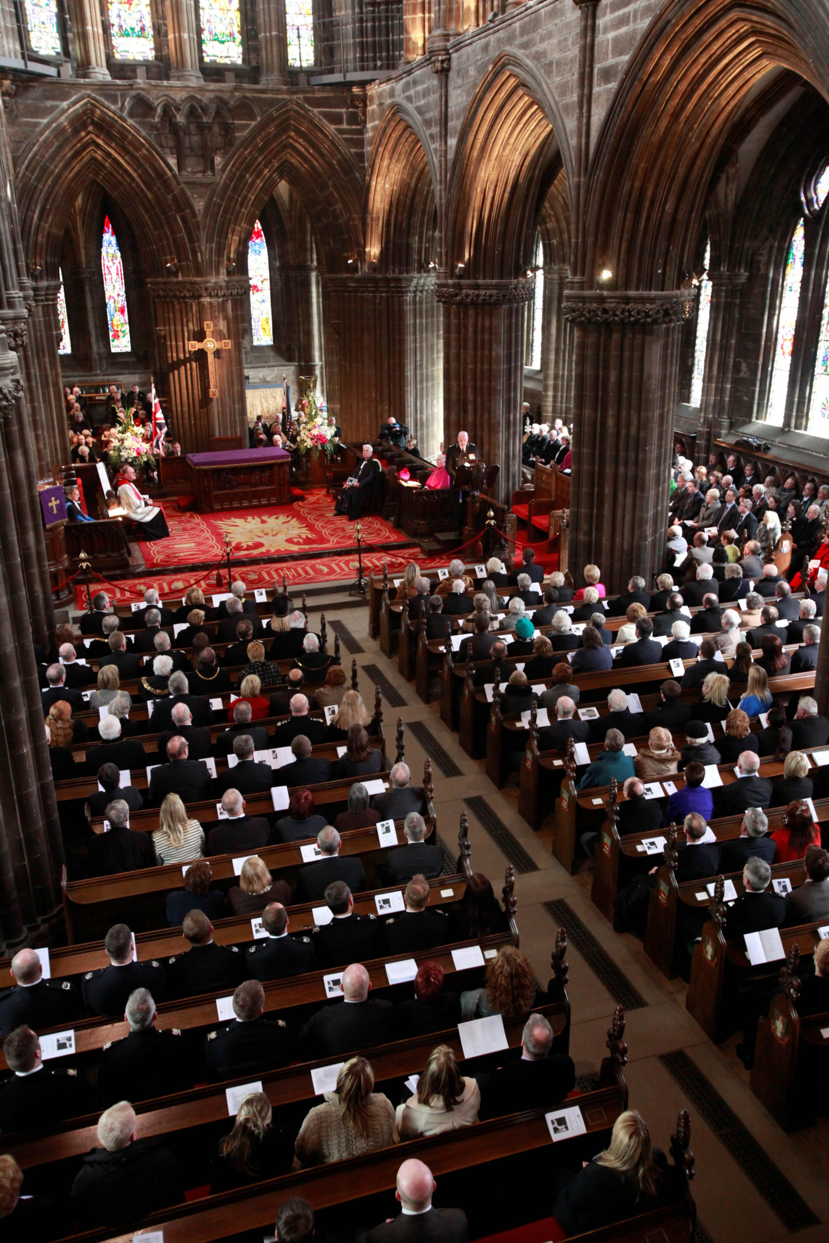 The memorial service at Glasgow Cathedral to commemorate the 50th Anniversary of the Cheapside Street Disaster.