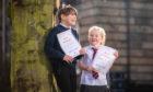 Poppy Robertson (Goodlyburn Primary School) and right is Stephanie Mackay Watt (Goodlyburn Primary School). Soutar Theatre, AK Bell Library, York Place, Perth