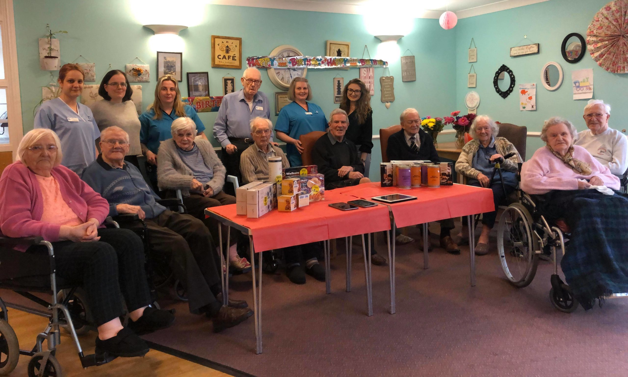 Residents at Balhousie Care Home in Pitlochry