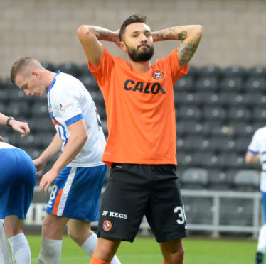 Darko Bodul failed to impress at Dundee United
