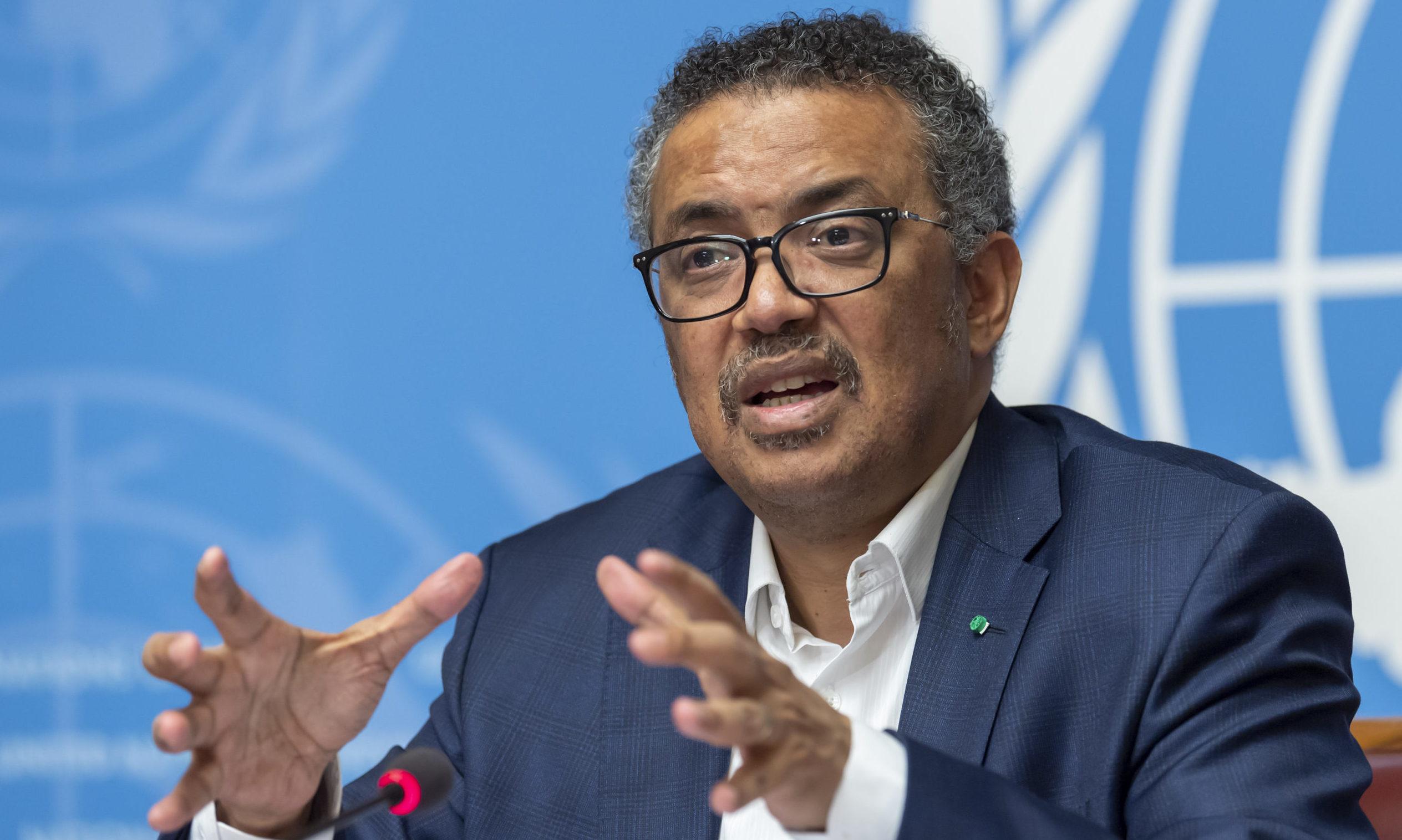 Tedros Adhanom Ghebreyesus, Director-General of the World Health Organisation (WHO).