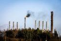 Flaring at the Exxon / Mossmorran Petrochemical plant near Cowdenbeath.