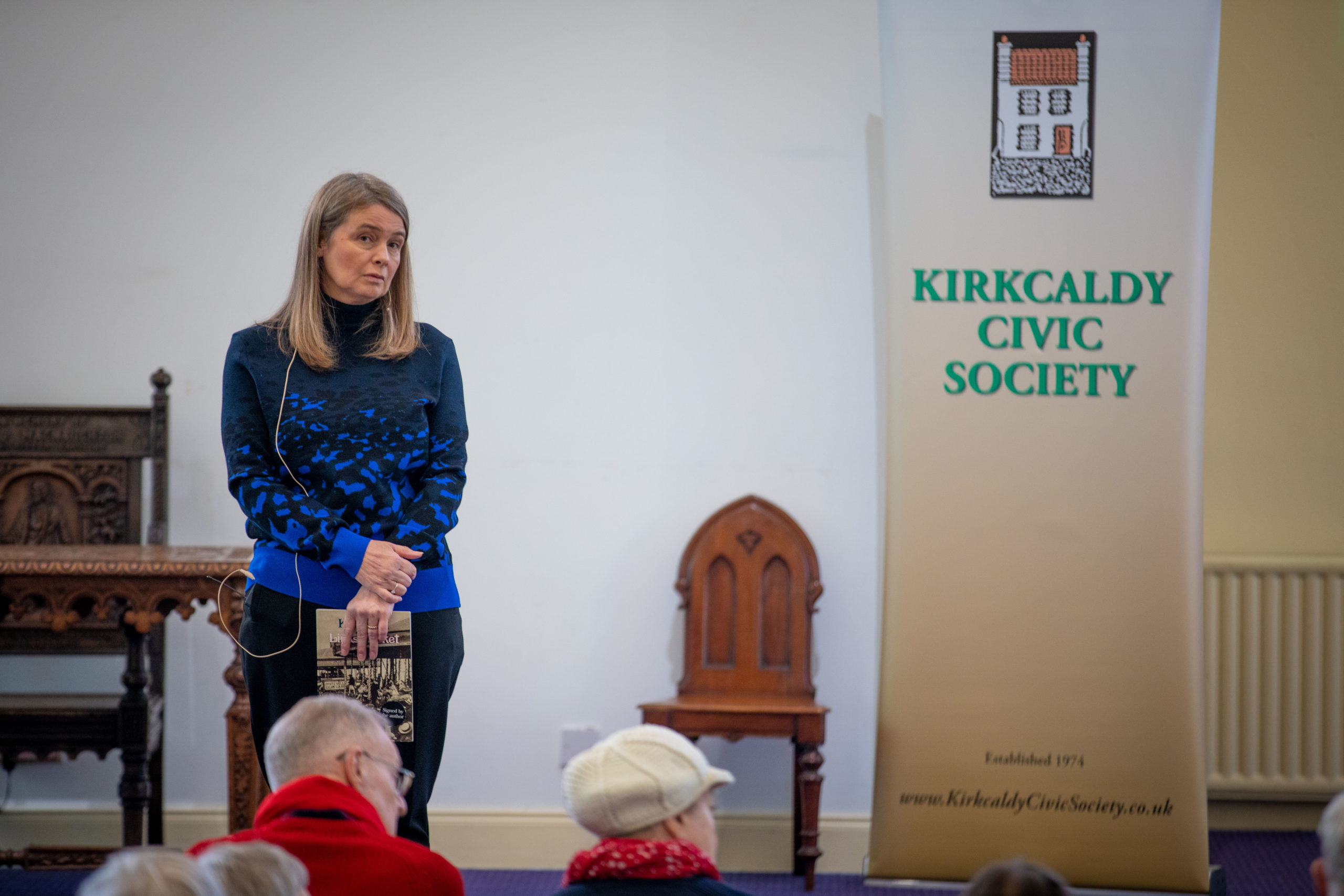 Cherise White spoke about the Links Market to Kirkcaldy Civic Society.