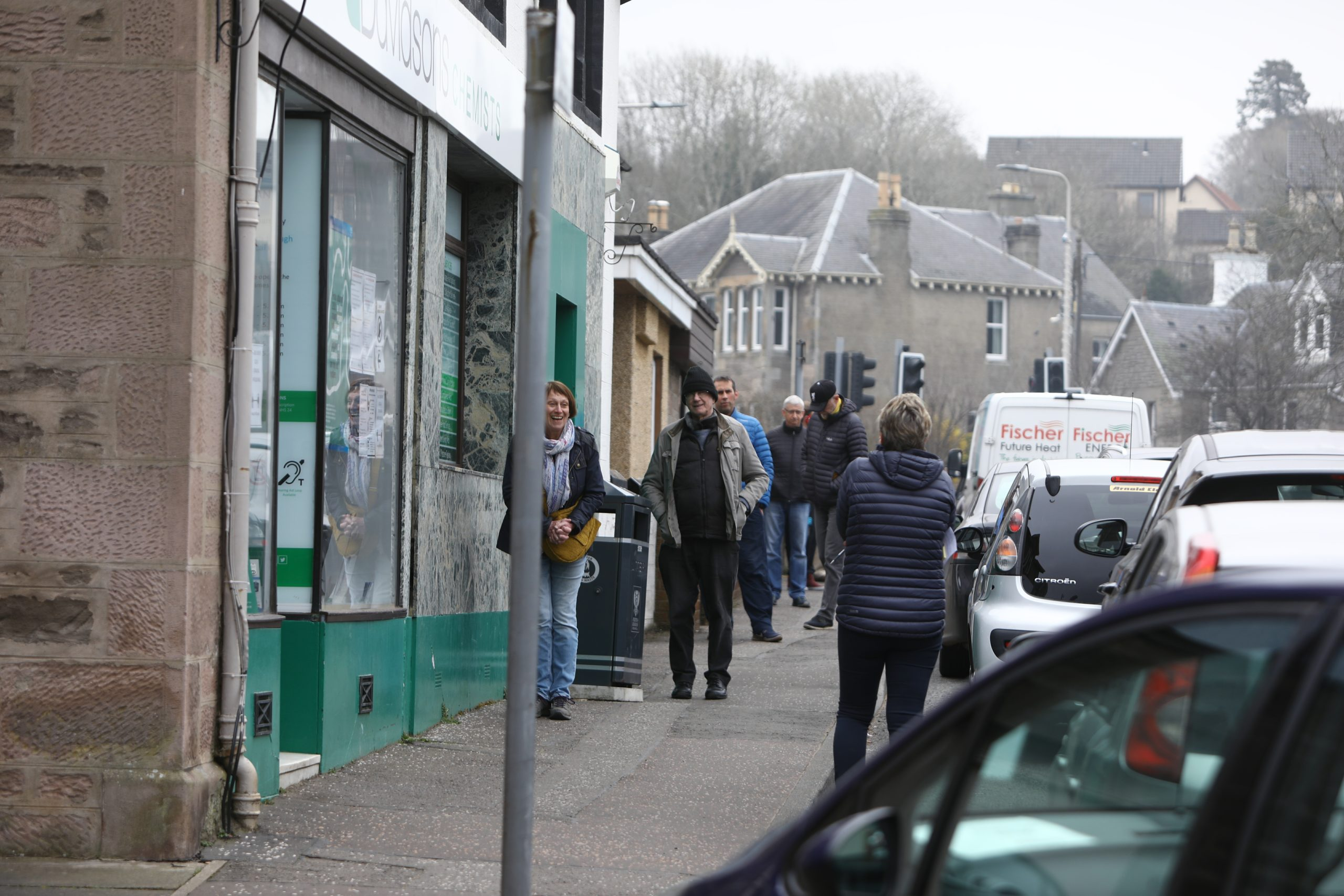 Queues outside Davidson's pharmacy in Scone