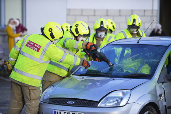 Firefighters undertake a range of tasks in their roles.