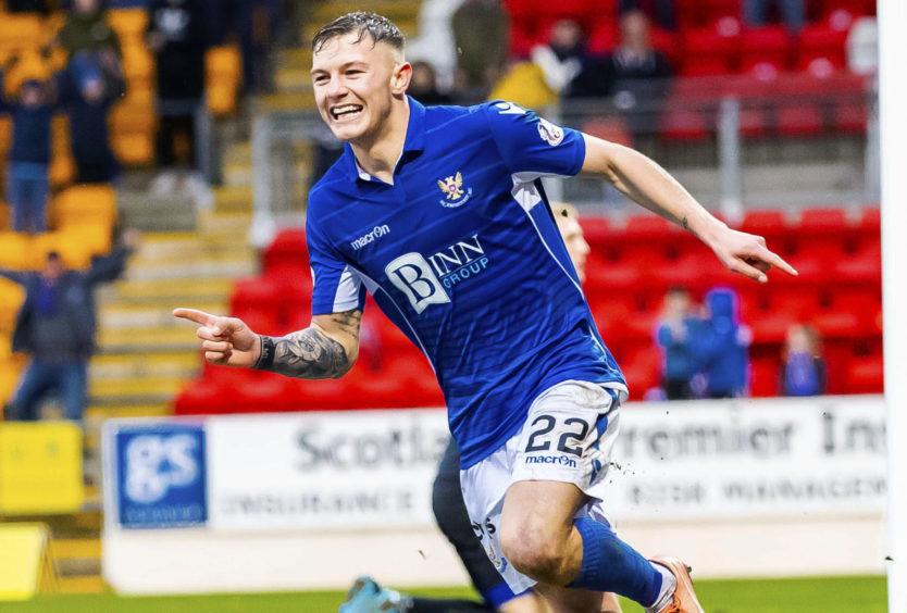 Callum Hendry celebrates strike against Livingston