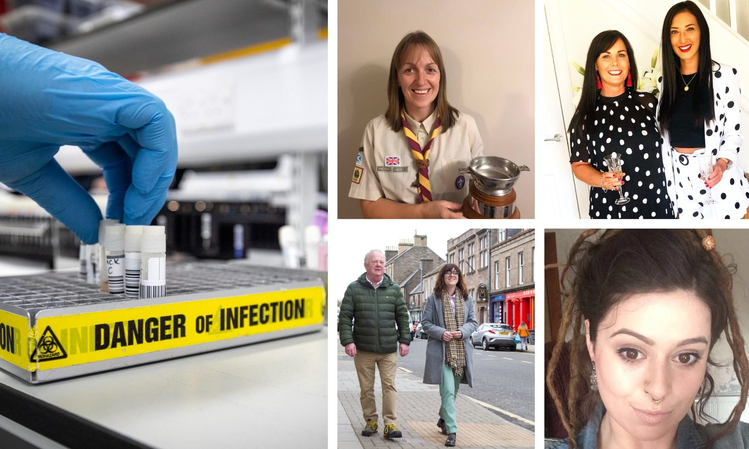 Locals are uniting in support across Tayside and Fife following the coronavirus outbreak.
