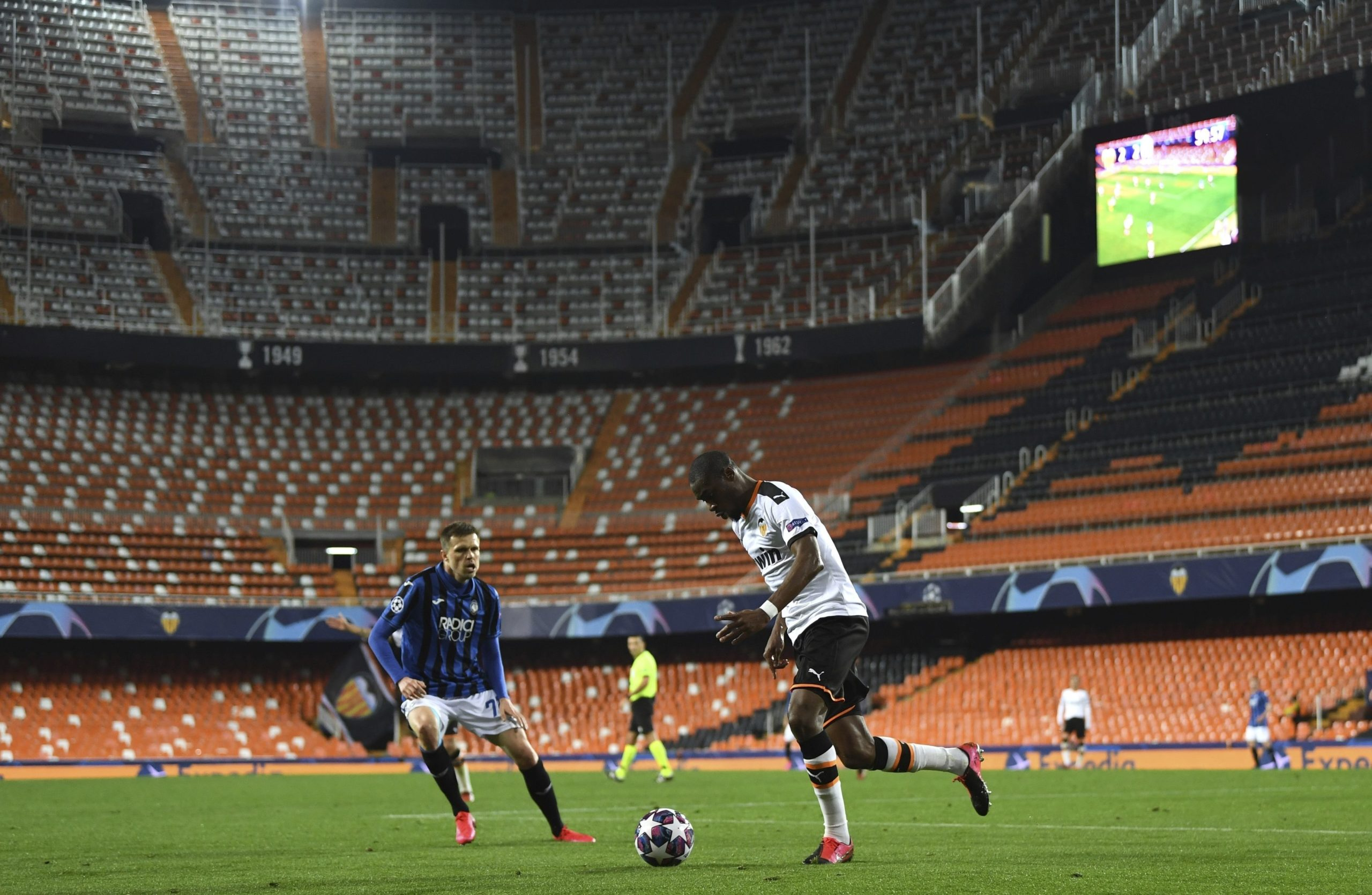 Valencia played in the Champions League behind closed doors.