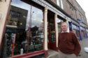 Robert Jamieson at his store in Alan st, Blairgowrie