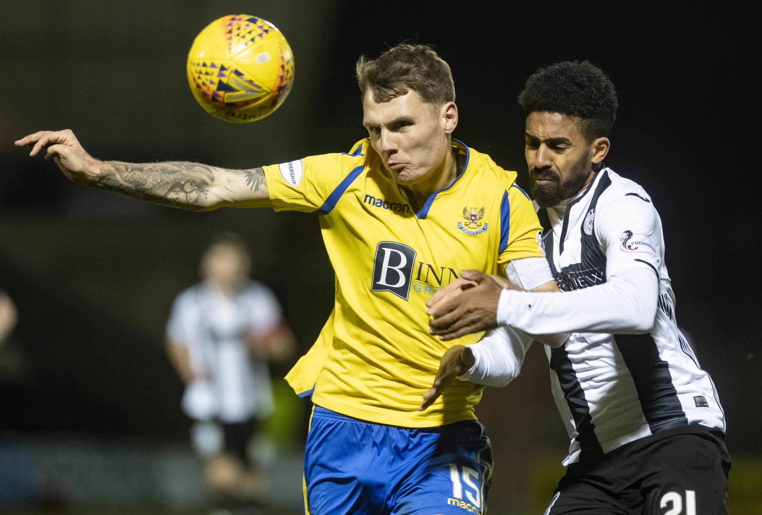Jason Kerr in action against St Mirren.