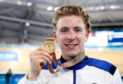 Mark Stewart with his Commonwealth Games gold medal.