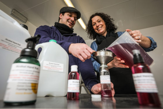 Redcastle Gin director Angie Jarron and distiller Lewis Scothern of Distillutions.