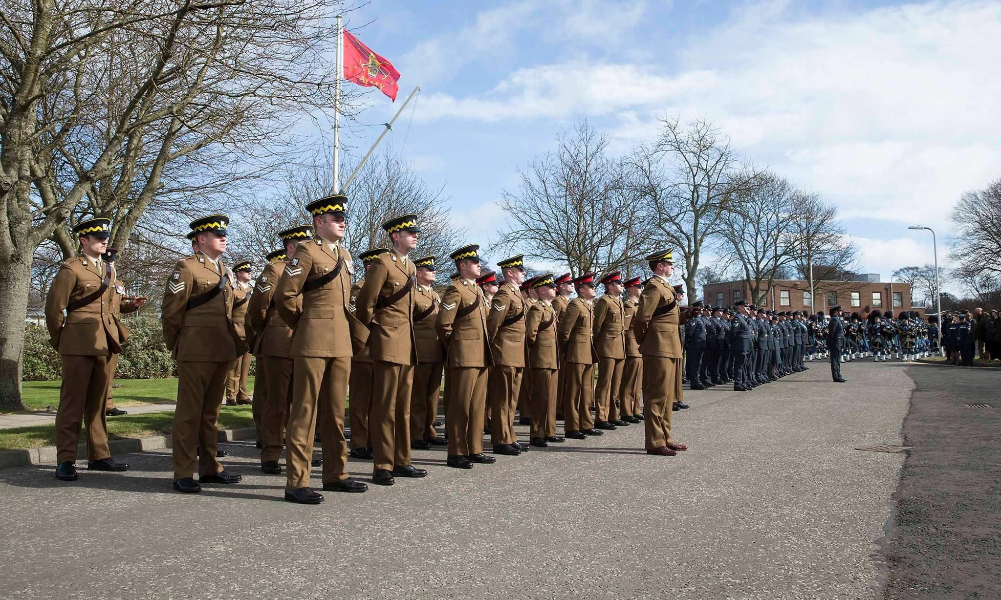 Royal Scots Dragoon Guards when Leuchars was handed over from the RAF to Army on March 31, 2015