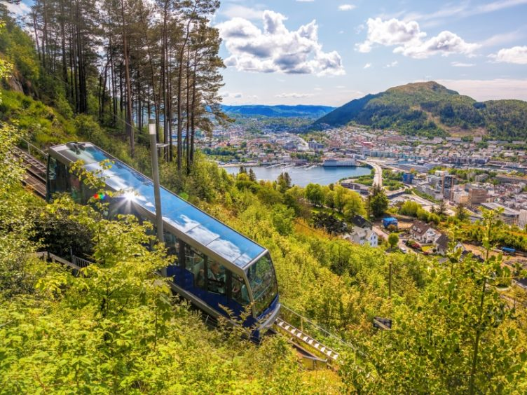 The cable car to Mount Floyen.