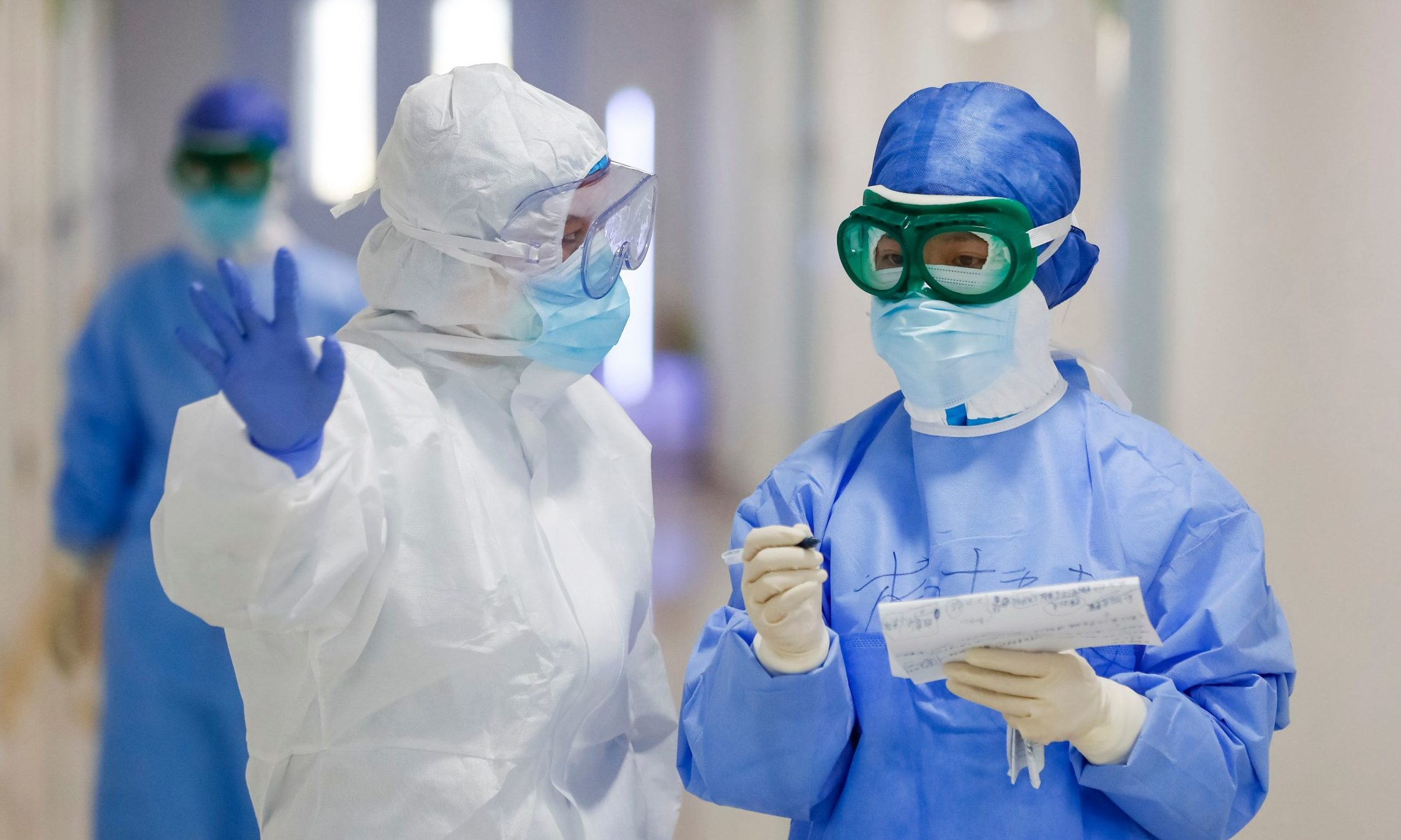 Nurses on the frontline of the original coronavirus outbreak in Wuhan, China.