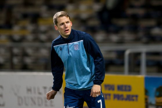 Christophe Berra is on loan at Dundee from Hearts