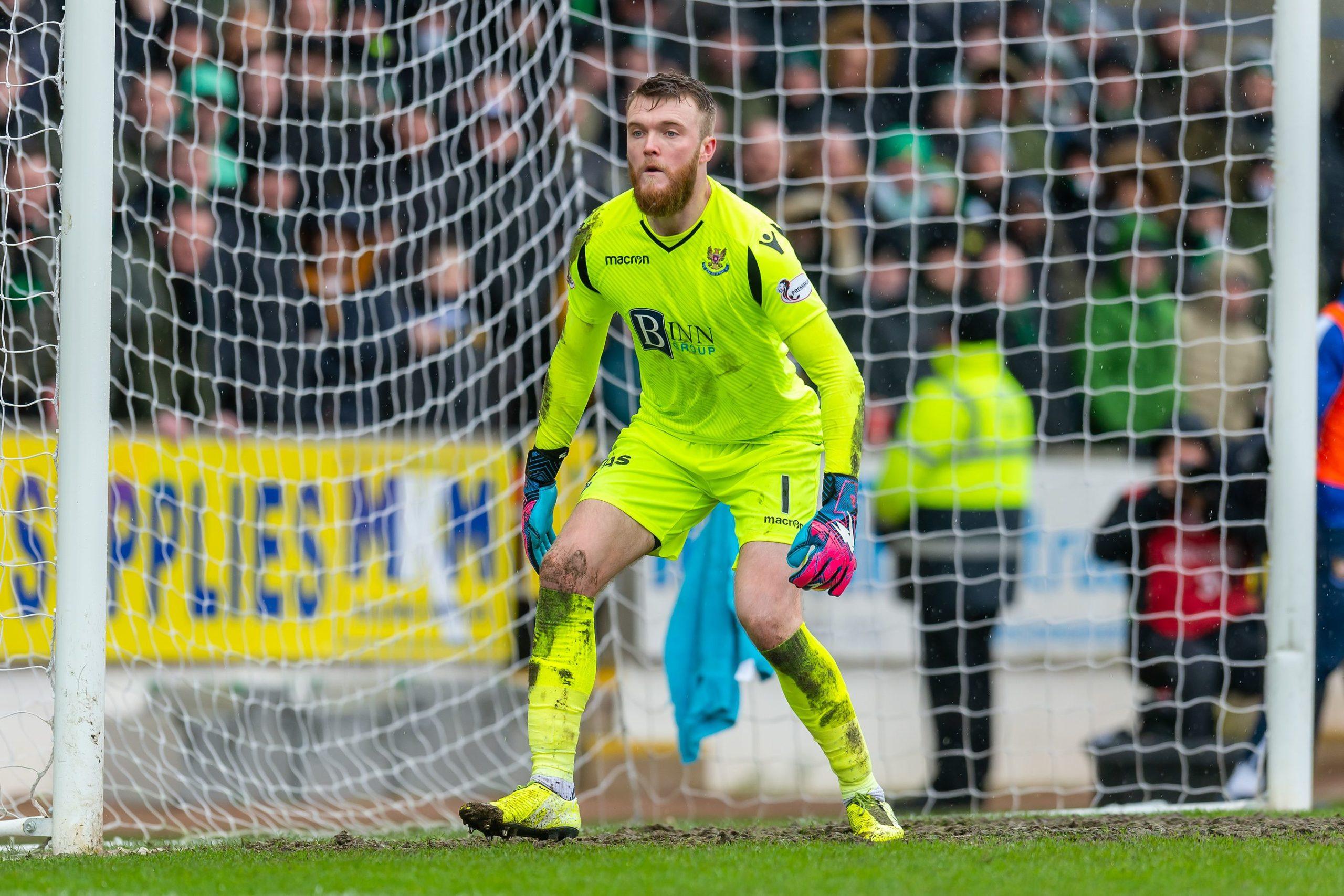 St Johnstone keeper Zander Clark in Scottish Cup action against Celtic