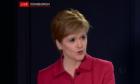 Nicola Sturgeon updating on the coronavirus situation in Scotland.