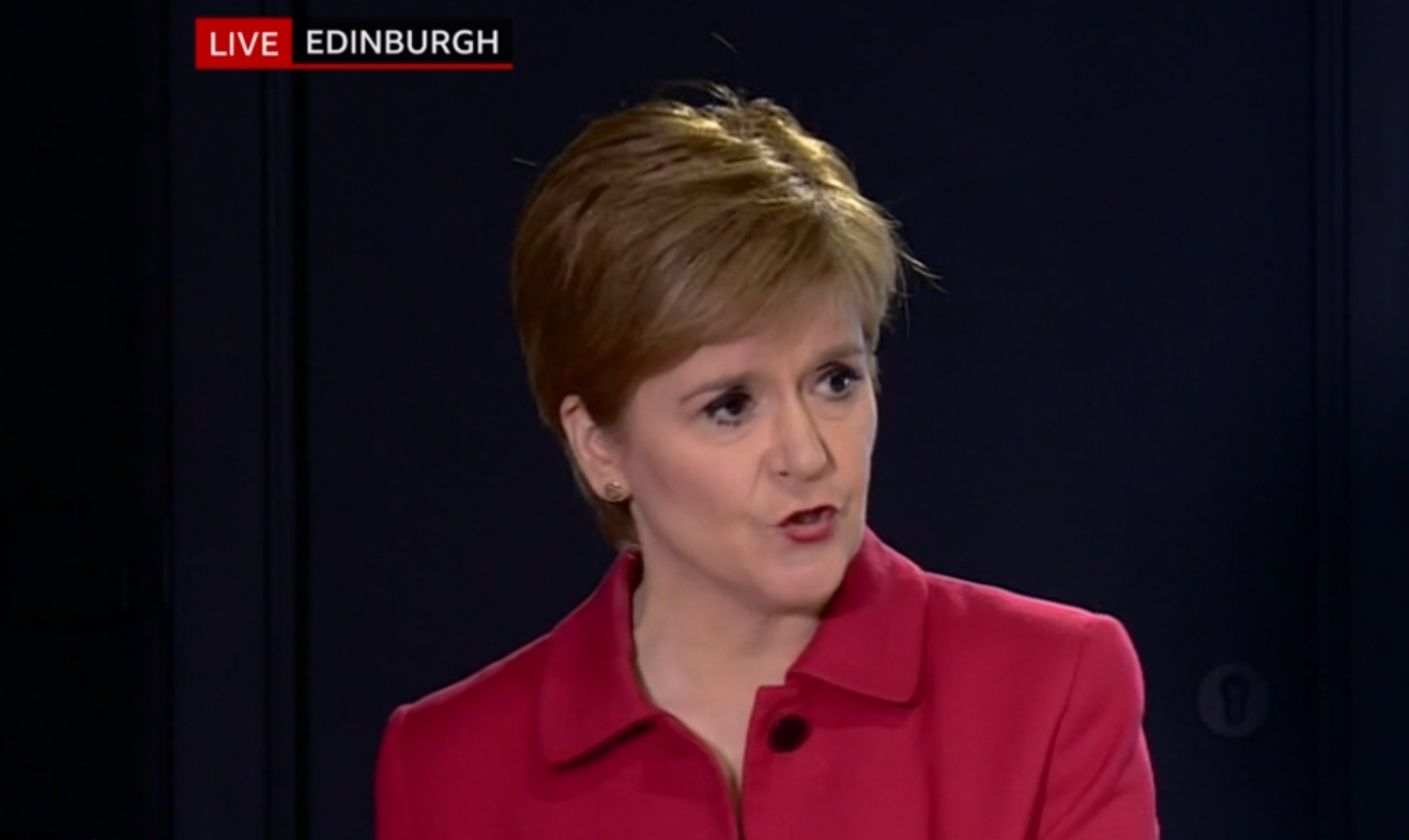 Nicola Sturgeon updating on the coronavirus situation in Scotland.