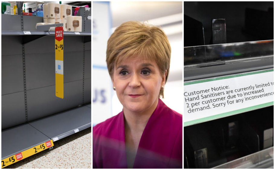 Nicola Sturgeon has urged people not to panic-buy durtng the coronavirus outbreak.