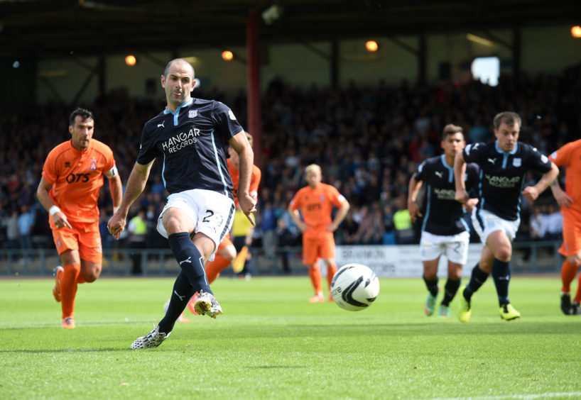 Harkins opens scoring for Dark Blues against Kilmarnock during his third spell at club