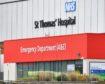 St Thomas' Hospital, London, where Prime Minister Boris Johnson was in intensive care with coronavirus symptoms.