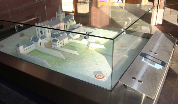 The scale model.