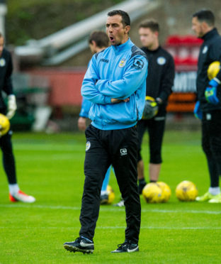 Allan McManus during his time as St Mirren's interim manager in 2016