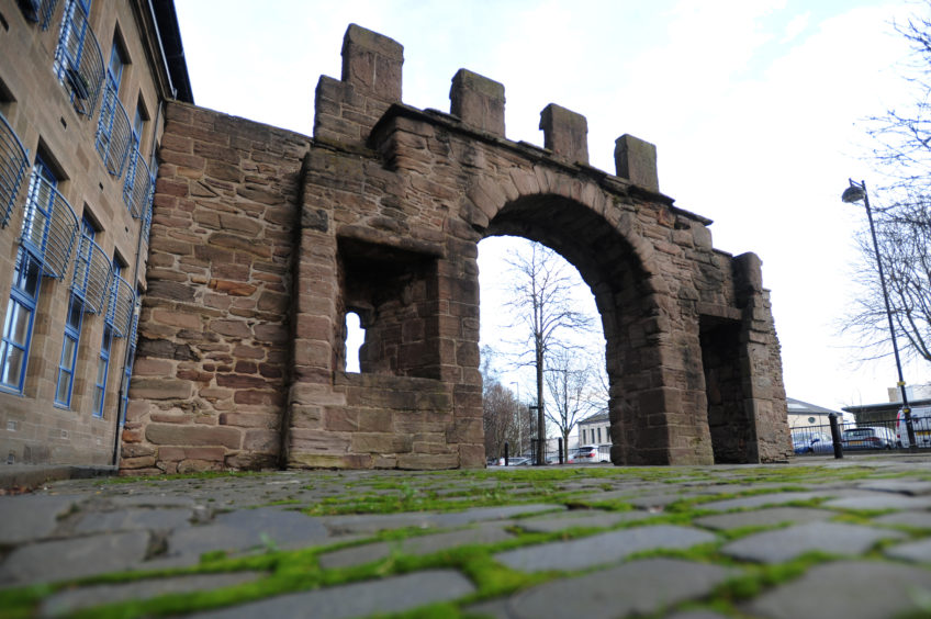 Pictured is the Wishart Arch, Dundee.