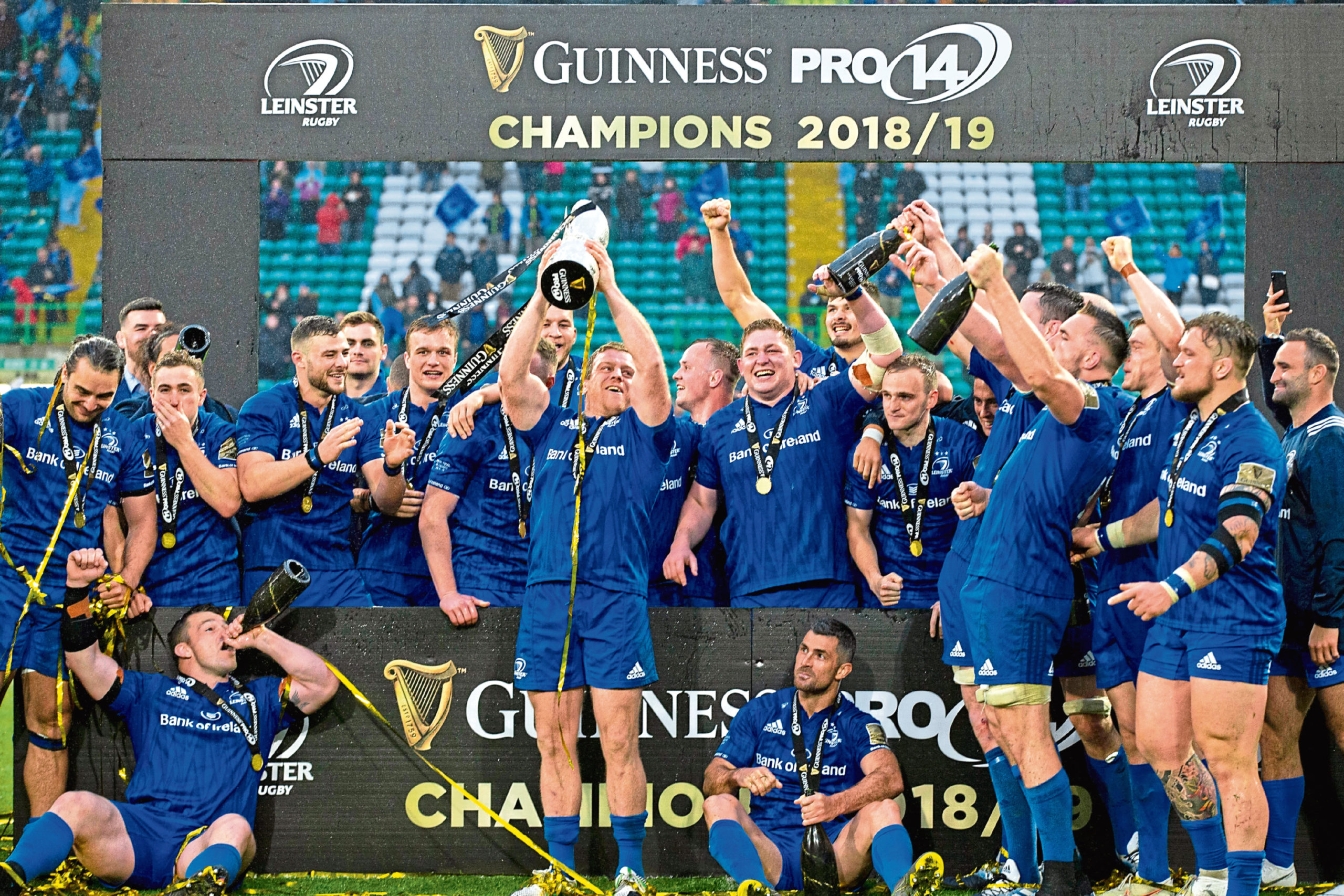 Last year's PRO14 champions Leinster.
