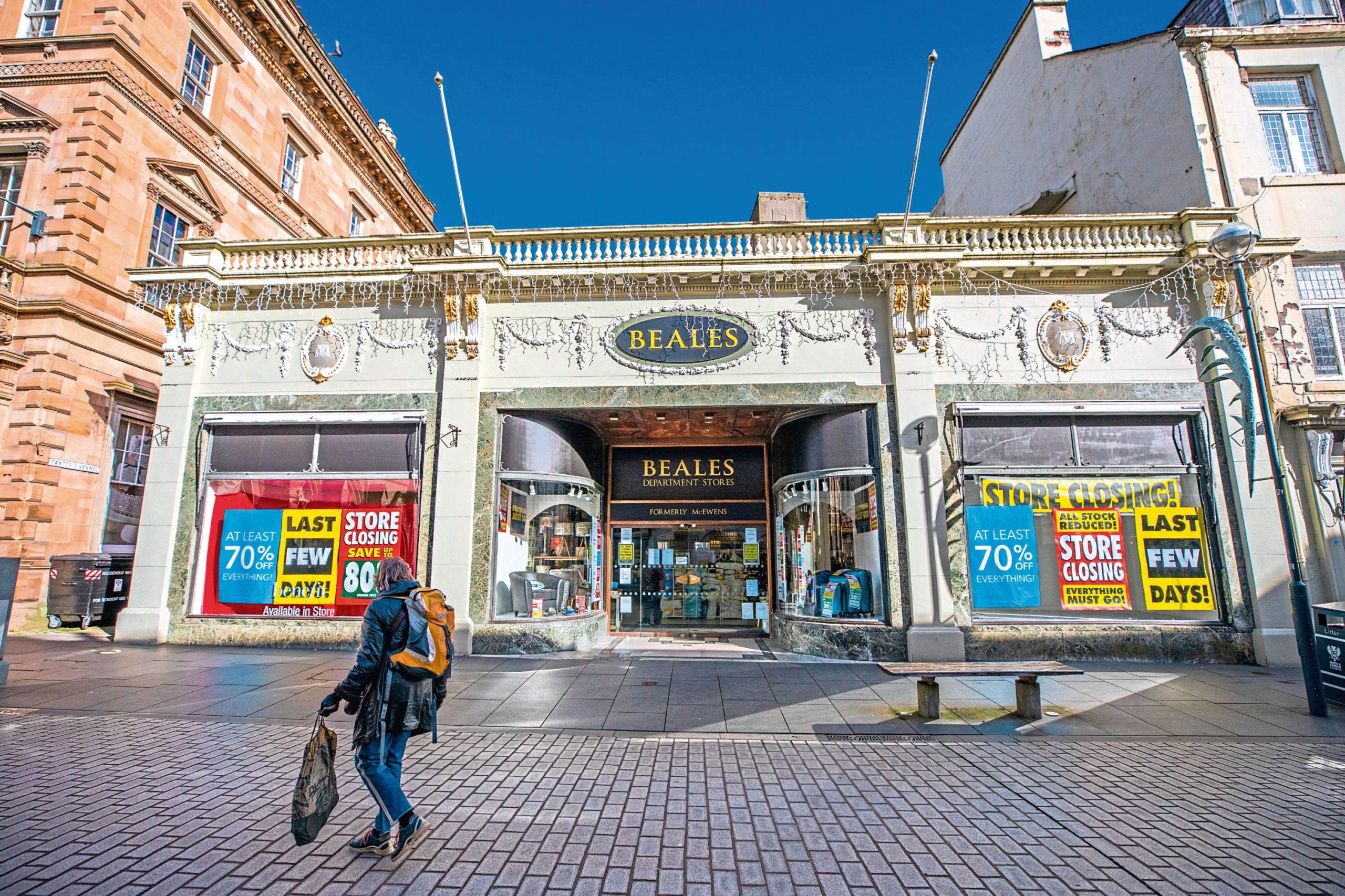 Beales in Perth shortly before it closed its doors for the final time last month.