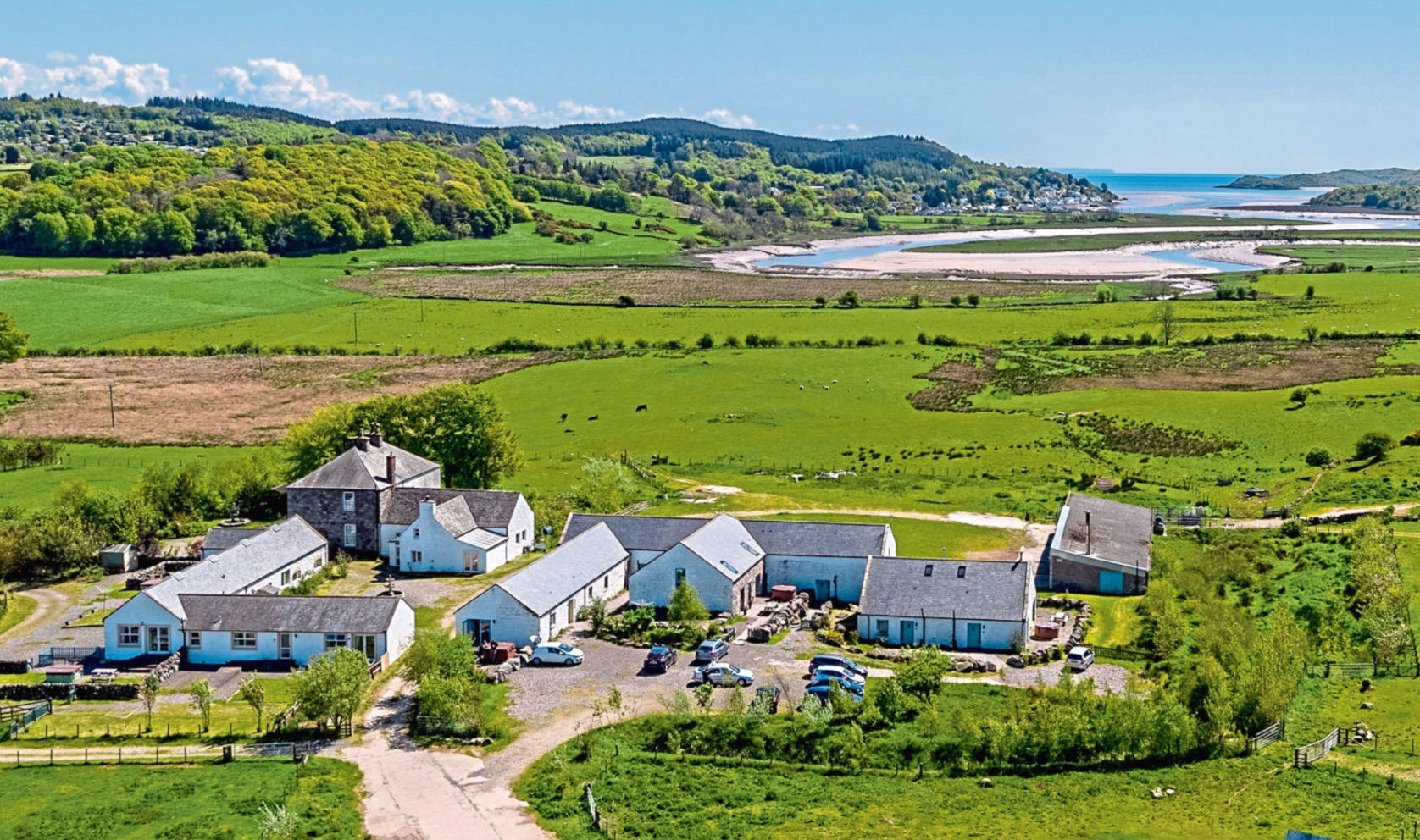 Meikle Richorn Farm and Holiday Cottages extends to 238 acres and is on the market for £3.5 million.