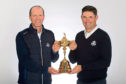 European Team Captain, Padraig Harrington (R) and United States Team Captain, Steve Stricker with the Ryder Cup.