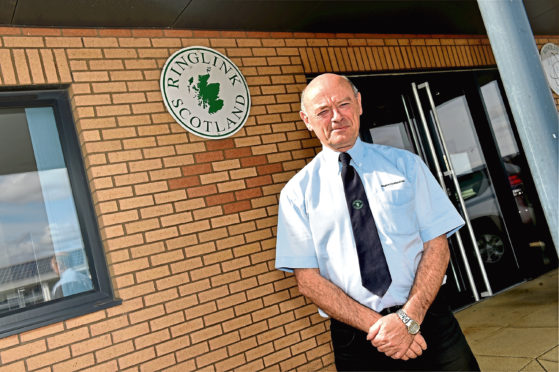 Ringlink Scotland managing director Graham Bruce at the Laurencekirk base.