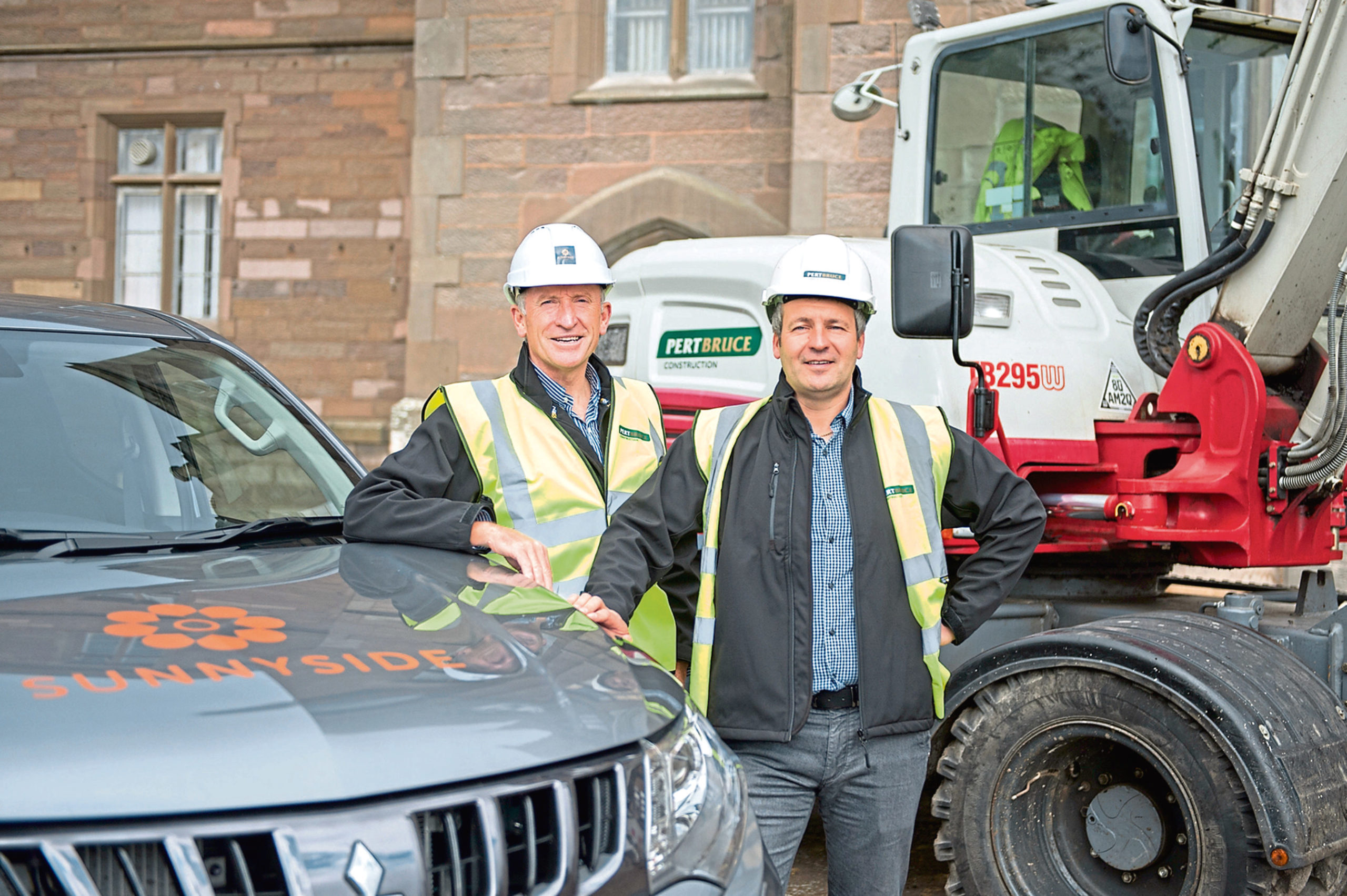Pert Bruce Construction has begun on delivering more than 500 homes on the site of the former Royal Hospital and surrounding estate at Sunnyside, Picture shows,l to r, Jamie Pert and Craig Bruce,21 August 2019