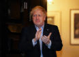 Prime Minister Boris Johnson takes part in the clap for the NHS gesture.