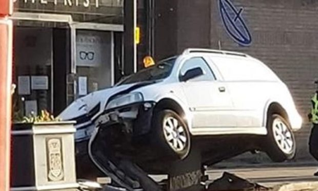 The vehicle crashed at .the junction with High Street and Kirkgate, (Pic Fife Jammers)