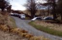 People parked on the verge outside Craigmead car park in the Lomonds before Easter despite Government advice to stay close to home.