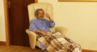Daphne Shah, 98, at home in St Madoes after beating coronavirus.