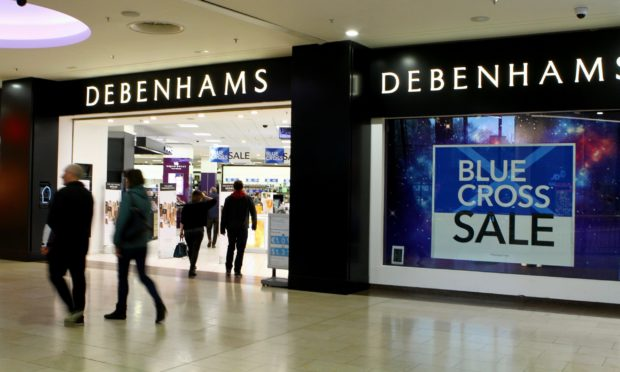 Debenhams in the Overgate Shoping Centre in Dundee.