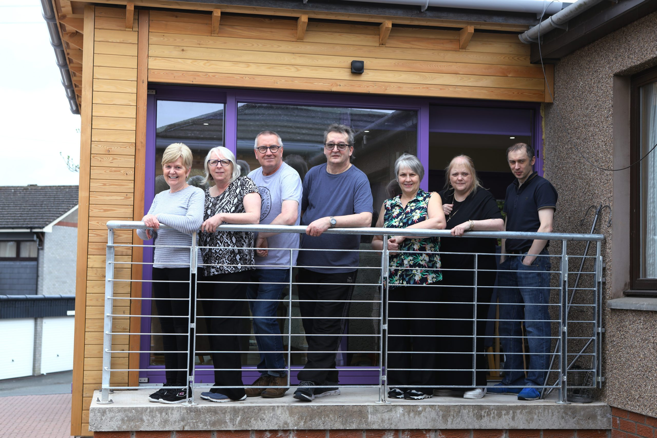 Staff with 3rd from left Ivan Cornford, Owner of St. Davids Home in Forfar