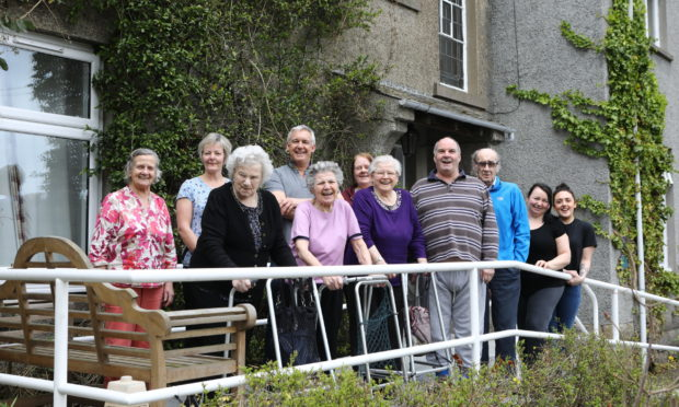 Residents and staff at The Glade in Brechin.