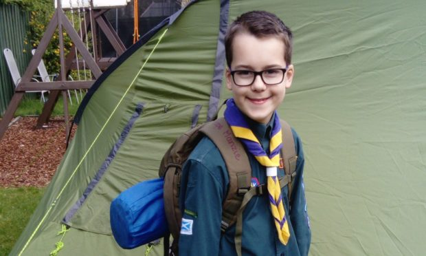 Lewis Manzie is encouraging more Scouts to keep up their hard work at home.